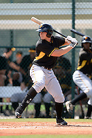 Pittsburgh Pirates third baseman Daniel Gamache (5) during an Instructional League intersquad scrimmage on September 29, 2014 at the Pirate City in Bradenton, Florida.  (Mike Janes/Four Seam Images)