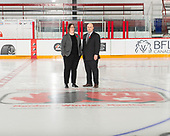 MORDEN, MB– Nov 7 2019: The Officials during the 2019 National Women's Under-18 Championship at the Access Event Center in Morden, Manitoba, Canada. (Photo by Matthew Murnaghan/Hockey Canada Images)