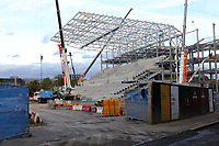 General view of the continuing work taking place at  Brentford FC's new Community Stadium in Lionel Road South during Brentford vs Birmingham City, Sky Bet EFL Championship Football at Griffin Park on 2nd October 2018