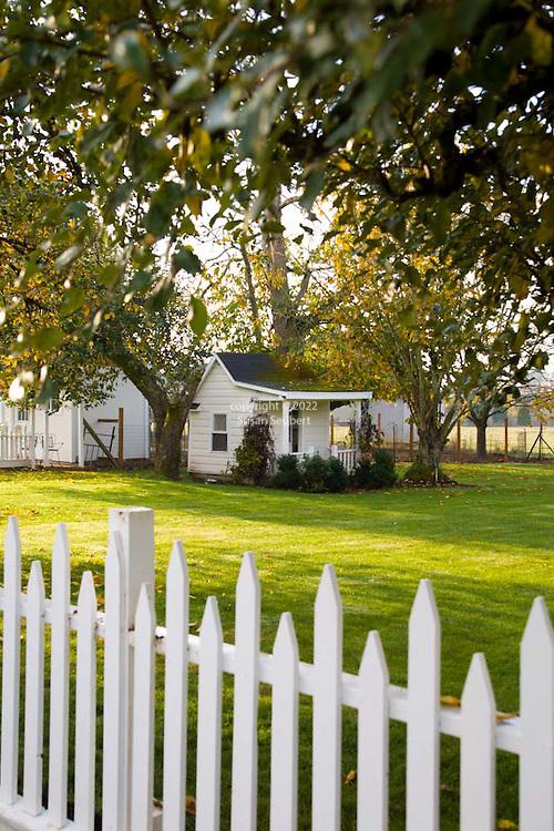 Historic Oregon City home, the White Kellogg House, an 1845 classic revival home set on 8 acres of farmland.