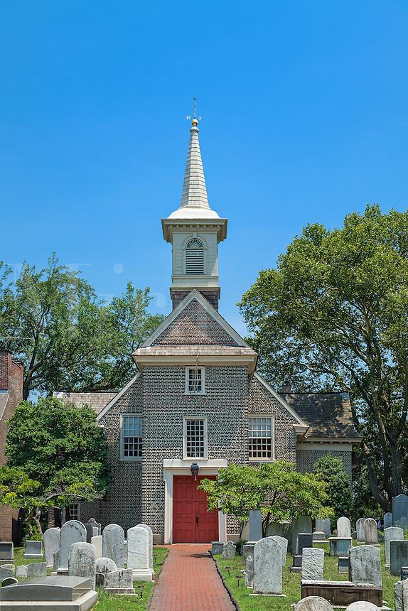Gloria Dei, Historic Old Swedes' Church, founded in 1677, Philadelphia, Pennsylvania, USA. Oldest church in Pennsylvania