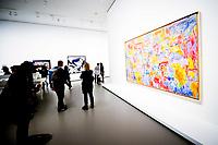 Illustration Ambiance / Jasper Johns - Map<br /> Parigi 16-10-2017 MoMa <br /> Esposizione Arte moderna <br /> Foto JB Autissier / Panoramic / Insidefoto