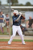 Thaddeus Ector (41) during the WWBA World Championship at the Roger Dean Complex on October 11, 2019 in Jupiter, Florida.  Thaddeus Ector attends Starrs Mill High School in Tyrone, GA and is committed to South Carolina.  (Mike Janes/Four Seam Images)