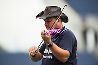Orlando, FL - Sunday July 10, 2016: National Anthem Performer prior to a regular season National Women's Soccer League (NWSL) match between the Orlando Pride and the Boston Breakers at Camping World Stadium.