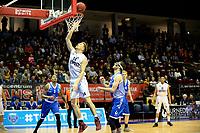 GRONINGEN - Basketbal, Donar - Landstede Zwolle, Martiniplaza,  Dutch Basketball League, seizoen 2017-2018, 12-11-2017,  score Donar speler Thomas Koenes