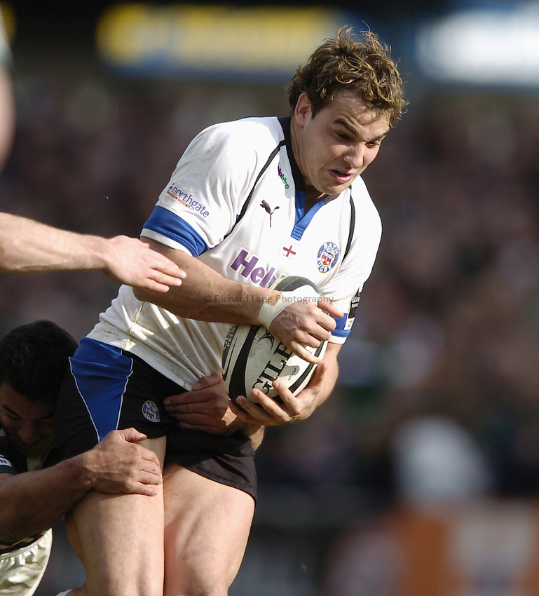 Photo: Jonathan Butler..Leicester Tigers v Bath Rugby. Guinness Premiership. 17/03/2007..Olly Barkley of Bath.