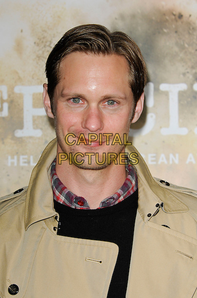 "ALEXANDER SKARSGARD.The Los Angeles premiere of HBO's new miniseries event ""The Pacific"" at Grauman's Chinese Theatre in Hollywood, California.  .February 24th, 2010.headshot portrait beige stubble facial hair .CAP/ROT.©Lee Roth/Capital Pictures"
