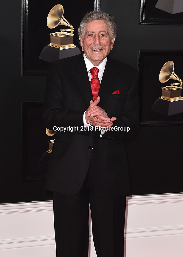NEW YORK - JANUARY 28:  Tony Bennett at the 60th Annual Grammy Awards at Madison Square Garden on January 28, 2018 in New York City. (Photo by Scott Kirkland/PictureGroup)