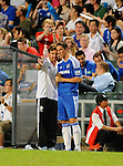 SO KON PO, HONG KONG - JULY 30: Andre Villas-Boas of Chelsea gives instructions to Fernando Torres during the Asia Trophy Final match against Aston Villa at the Hong Kong Stadium on July 30, 2011 in So Kon Po, Hong Kong.  Photo by Victor Fraile / The Power of Sport Images