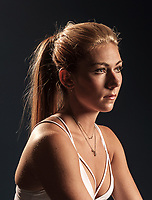 Two time Olympic gold medalist and world cup winning alpine skier Mikaela Shiffrin in Vail, Colorado, Wednesday, June 6, 2018. Shiffrin is the a two-time Overall World Cup champion, a three-time world champion in slalom, and a five-time winner of the World Cup discipline title in that event.<br /> <br /> Photo by Matt Nager