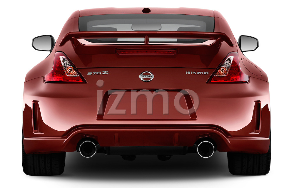Straight rear view of a 2013 Nissan 370Z Nismo Coupe