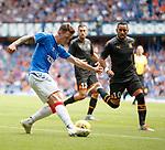 14.07.2019: Rangers v Marseille: Ryan Jack cuts back inside Dimitri Payet