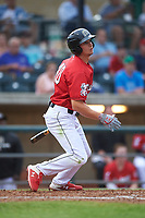 Billings Mustangs TJ Hopkins (40) at bat during a Pioneer League game against the Grand Junction Rockies at Dehler Park on August 14, 2019 in Billings, Montana. Grand Junction defeated Billings 8-5. (Zachary Lucy/Four Seam Images)