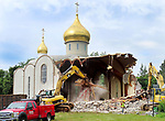 WATERBURY  CT. - 22 July 2019-072219SV01-<br />The Holy Virgin Mary Orthodox Church is demolished on North Main Street in Waterbury Monday.<br /> Steven Valenti Republican-American