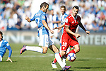CD Leganes' Victor Diaz (l) and Sevilla FC's Vitolo during La Liga match. October 15,2016. (ALTERPHOTOS/Acero)