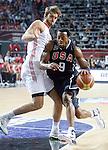 Andre IGUODALA (USA)  passes Semih ERDEN (Turkey) during the Final World championship basketball match against Turkey in Istanbul, Turkey-USA, Turkey on Sunday, Sep. 12, 2010. (Novak Djurovic/Starsportphoto.com) .