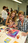 Walt Willey, Susan Haskell, daughter Marlowe paint at the 11th Annual SoapFest - Painting Party to benefit Marco Island YMCA, theatre program & Art League of Marco Island on May 2, 2009 on Marco Island, FLA. (Photo by Sue Coflin/Max Photos)