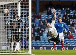 Kevin Kyle's header beats Elgin keeper John Gibson for Rangers second goal