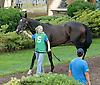 Namaskara in the paddock before The Rosenna Stakes at Delaware Park on 8/17/13