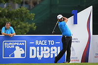 John Parry (ENG) on the 1st tee during Round 1 of the D+D Real Czech Masters at the Albatross Golf Resort, Prague, Czech Rep. 31/08/2017<br /> Picture: Golffile | Thos Caffrey<br /> <br /> <br /> All photo usage must carry mandatory copyright credit     (&copy; Golffile | Thos Caffrey)