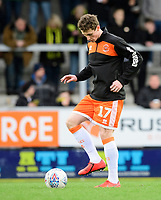 Blackpool's Matty Virtue during the pre-match warm-up<br /> <br /> Photographer Chris Vaughan/CameraSport<br /> <br /> The EFL Sky Bet League One - Burton Albion v Blackpool - Saturday 16th March 2019 - Pirelli Stadium - Burton upon Trent<br /> <br /> World Copyright &copy; 2019 CameraSport. All rights reserved. 43 Linden Ave. Countesthorpe. Leicester. England. LE8 5PG - Tel: +44 (0) 116 277 4147 - admin@camerasport.com - www.camerasport.com
