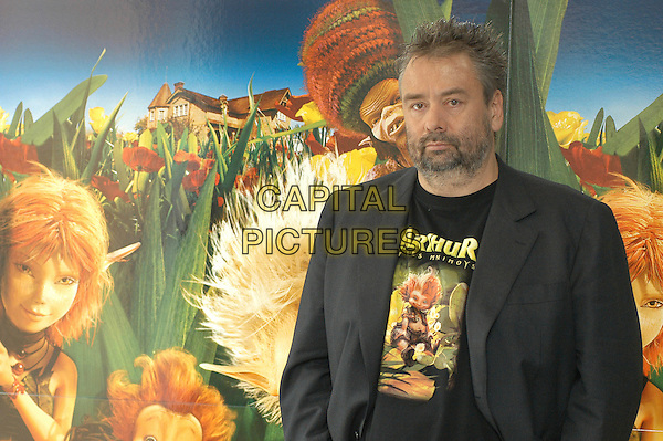 "LUC BESSON.Photocall for ""Arthur & The Invisibles"", Rome, Italy..January 29th, 2007.half length grey gray suit jacket beard facial hair .CAP/OME.© Capital Pictures."