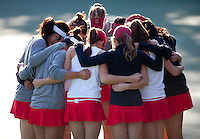 STANFORD, CA - January 26, 2011: The Stanford women's tennis team before their match against UC Davis. Stanford won 7-0 overall.
