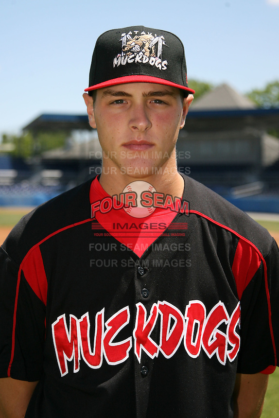 June 16, 2009:  Kevin Siegrist of the Batavia Muckdogs poses for a head shot before the teams practice at Dwyer Stadium in Batavia, NY.  The Batavia Muckdogs are the NY-Penn League Single-A affiliate of the St. Louis Cardinals.  Photo by:  Mike Janes/Four Seam Images