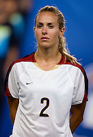 Heather Mitts. The US lost to Norway, 2-0, during first round play at the 2008 Beijing Olympics in Qinhuangdao, China.