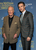 NEW YORK, NY - NOVEMBER 12: Actor Christopher Plummer and Dan Stevens attends 'The Man Who Invented Christmas' New York Screening at Florence Gould Hall on November 12, 2017 in New York City. <br /> CAP/MPI/JP<br /> &copy;JP/MPI/Capital Pictures
