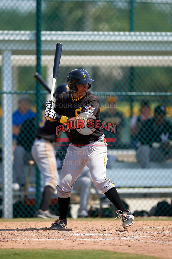 Pittsburgh Pirates Raul Hernandez (89) during a minor league Spring Training game against the New York Yankees on March 26, 2016 at Pirate City in Bradenton, Florida.  (Mike Janes/Four Seam Images)