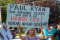Protesting Paul Ryan at CNN's Town Hall Racine Wisconsin August, 21st, 2017