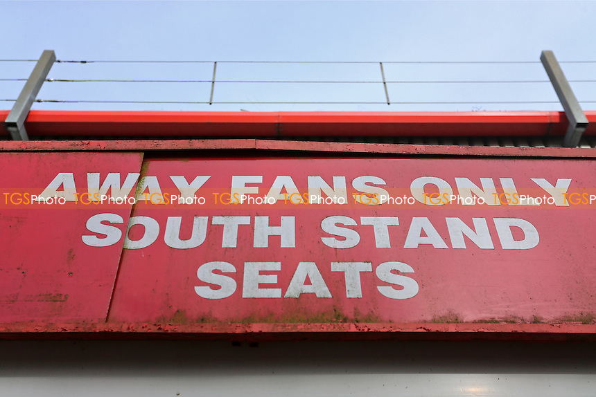 The Away Fans Only sign during Stevenage vs Notts County, Sky Bet EFL League 2 Football at the Lamex Stadium on 4th March 2017