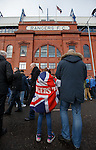 Rangers at the main door as they contimue their protests against the current board