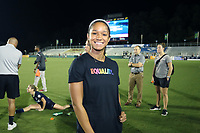Cary, North Carolina  - Saturday June 17, 2017: Darian Jenkins wears a Nike Equality BeTrue Tee after a regular season National Women's Soccer League (NWSL) match between the North Carolina Courage and the Boston Breakers at Sahlen's Stadium at WakeMed Soccer Park. The Courage won the game 3-1.