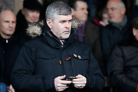 Fleetwood Town FC CEO Steve Curwood seen during the Sky Bet League 1 match between Southend United and Fleetwood Town at Roots Hall, Southend, England on 13 January 2018. Photo by Carlton Myrie.
