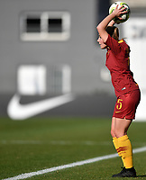 Jenny Bitzer of AS Roma takes a throw in during the Women Italy cup round of 8 second leg match between AS Roma and Roma Calcio Femminile at stadio delle tre fontane, Roma, February 20, 2019 <br /> Foto Andrea Staccioli / Insidefoto
