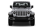 Car photography straight front view of a 2020 Jeep Gladiator Overland 4 Door Pick Up