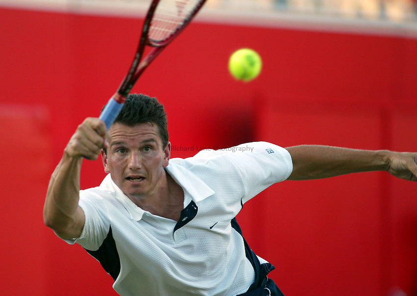 Photograph: Scott Heavey..Day 4 of the Stella Artois Championship at the Queens Club. 12/06/2003..Richard Krajicek