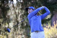 CHAPEL HILL, NC - OCTOBER 11: Miranda Wang of Duke University tees off at UNC Finley Golf Course on October 11, 2019 in Chapel Hill, North Carolina.