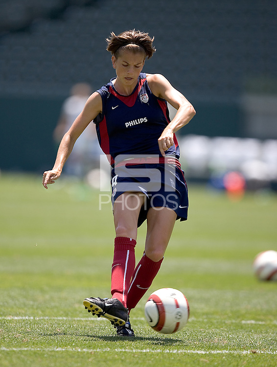 Angie Woznuk. The USA defeated Iceland, 3-0, at the Home Depot Center in Carson, CA on July 24, 2005.