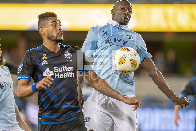San Jose, CA - Thursday December 31, 2015: Anibal Godoy during a Major League Soccer (MLS) match between the San Jose Earthquakes and Sporting Kansas City at Avaya Stadium.