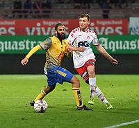 KV KORTRIJK - UNION ST GILLOISE :<br /> duel tussen Andriy Batsula (R) en Abdelrafik Gerard (L)<br /> <br /> Foto VDB / Bart Vandenbroucke