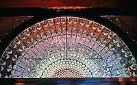 Frank Furness: Furness Library, U. of PA. Fan Window over Entrance.  Photo '91.