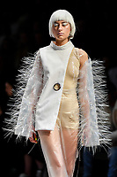 7 September 2017, Melbourne - Model parades design by RMIT student Melissa Dimakis during the Melbourne Fashion Week in Melbourne, Australia. (Photo Sydney Low / asteriskimages.com)