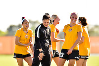 Houston, TX - Friday Oct. 07, 2016: Western New York Flash, Sabrina D'Angelo during training prior to the National Women's Soccer League (NWSL) Championship match between the Washington Spirit and the Western New York Flash at Houston Sports Park.