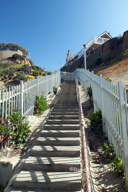 Stairs from the beach, Solana Beach