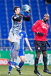 Muangthong Goalkeeper Kawin Thamsatchanan (L) in action during the AFC Champions League 2017 Group E match between  Ulsan Hyundai FC (KOR) vs Muangthong United (THA) at the Ulsan Munsu Football Stadium on 14 March 2017 in Ulsan, South Korea. Photo by Chung Yan Man / Power Sport Images