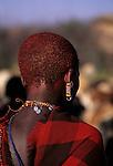 Behind a Maasai