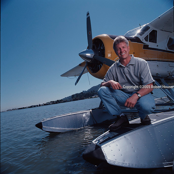 Steve Price - Seaplane Tours of San Francisco: Executive portrait photographs by San Francisco - corporate and annual report - photographer Robert Houser.